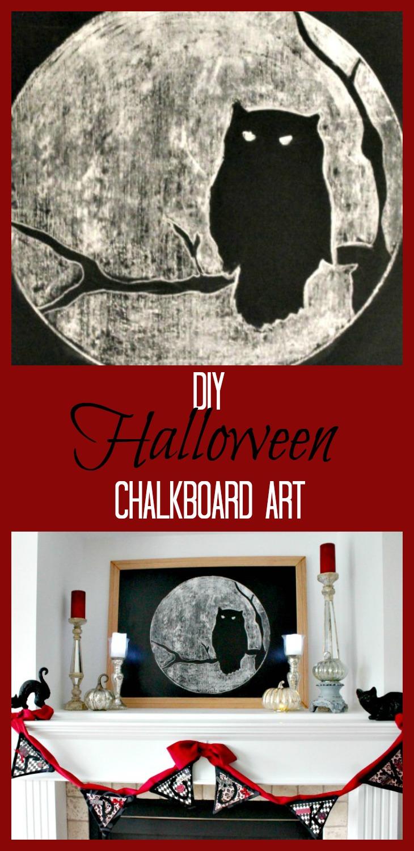 Halloween Chalkboard Art, DIY Halloween Decorations, Halloween Decor, DIY Halloween Decor