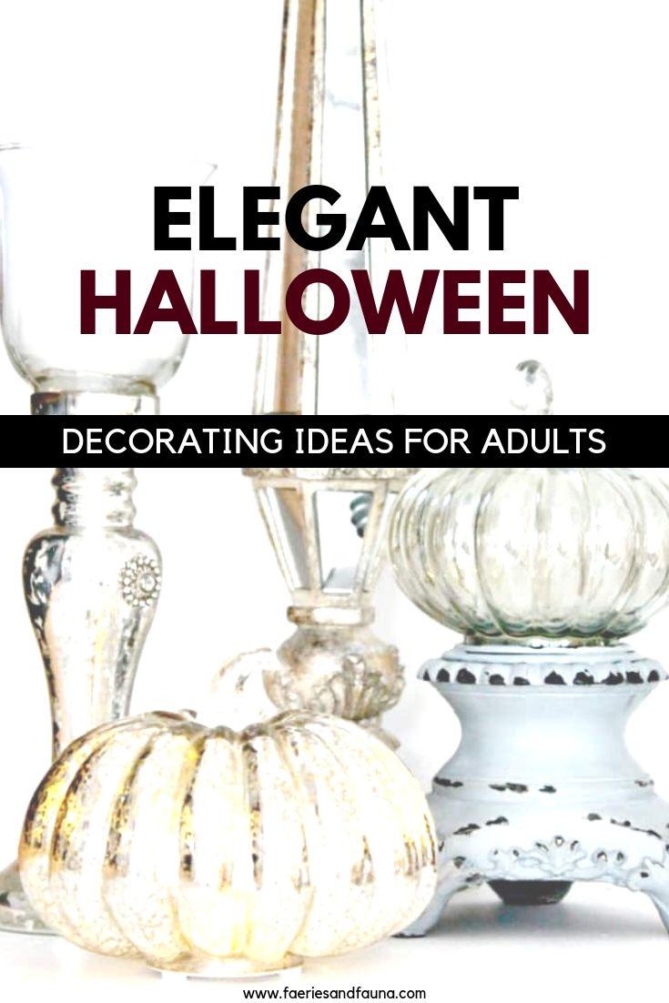 Simple and Classy Halloween decor ideas.