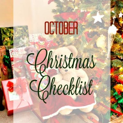 Christmas Is Coming –  Getting Partially Ready in October