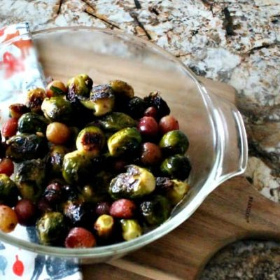 Roasted  Brussel Sprout Recipe with Grapes