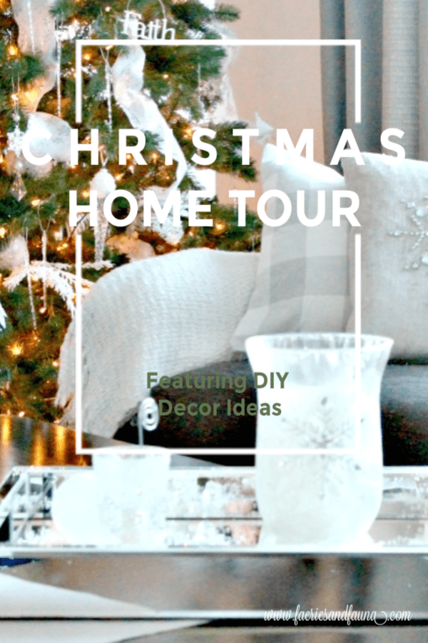 Christmas Home tour with DIY Christmas Decorations in All white.