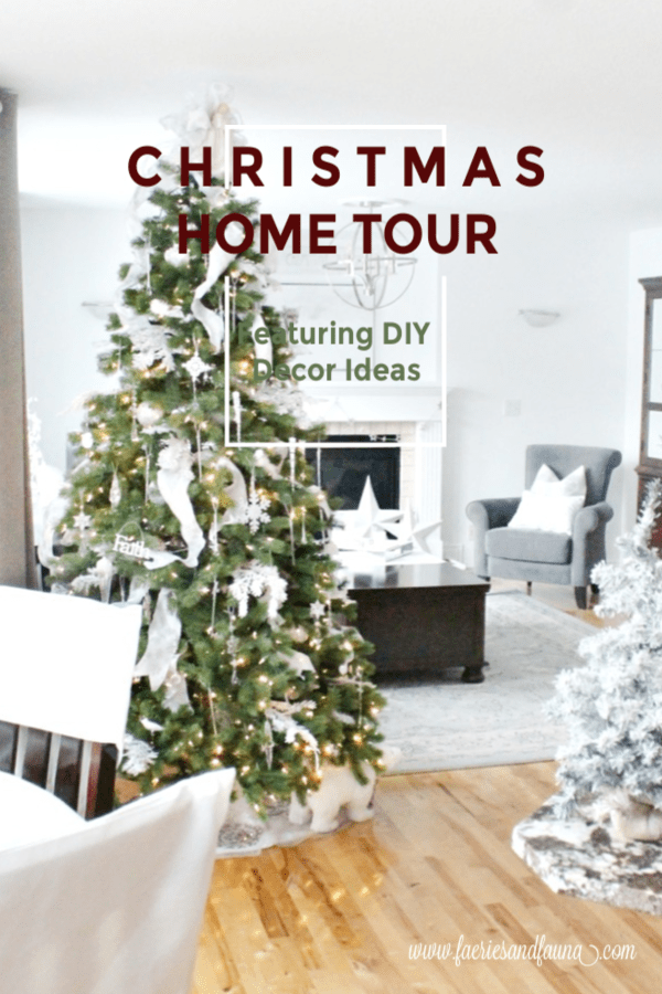 Christmas Home Tour featuring All White Decor