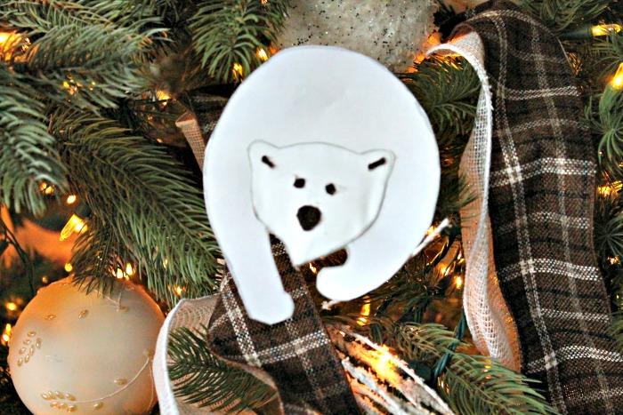 polar bear ornament, diy Christmas decorations, homemade ornaments, homemade Christmas tree ornaments