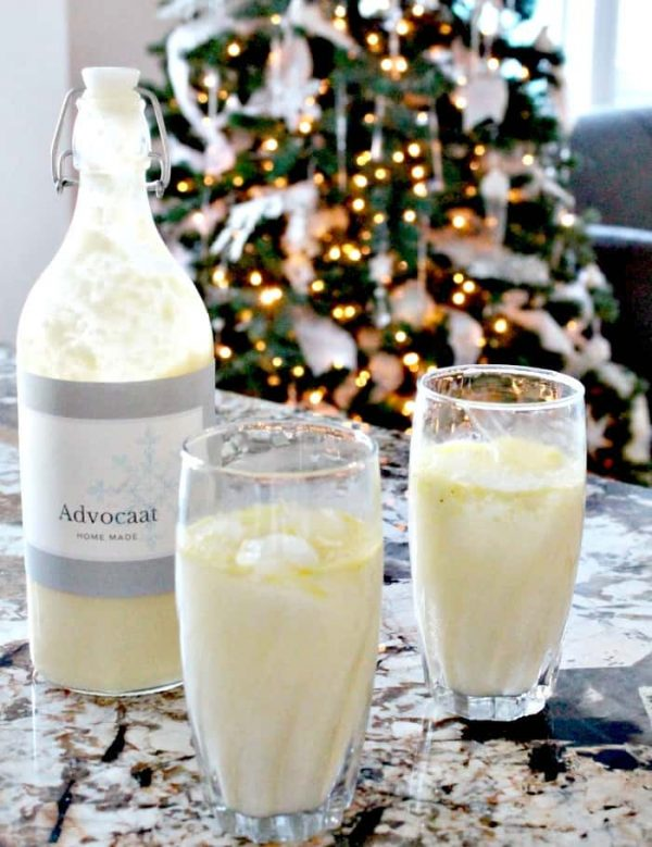 homemade advocaat, advocaat liquer recipe dutch liquer, snowball recipe, snowball drink.