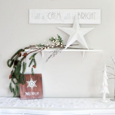 All is Calm All is Bright DIY Farmhouse Christmas Sign