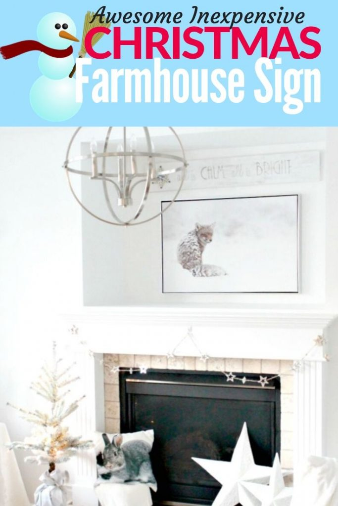 Cheap DIY Wood Christmas sign with saying.