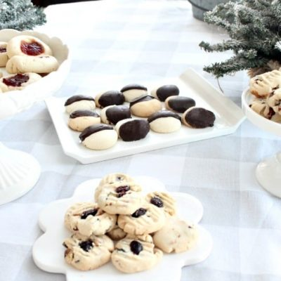 Shortbread Cookies with Four Variations