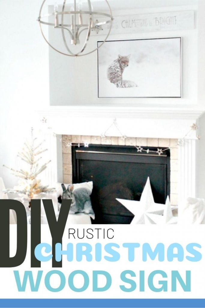 DIY Rustic wood sign for Christmas.
