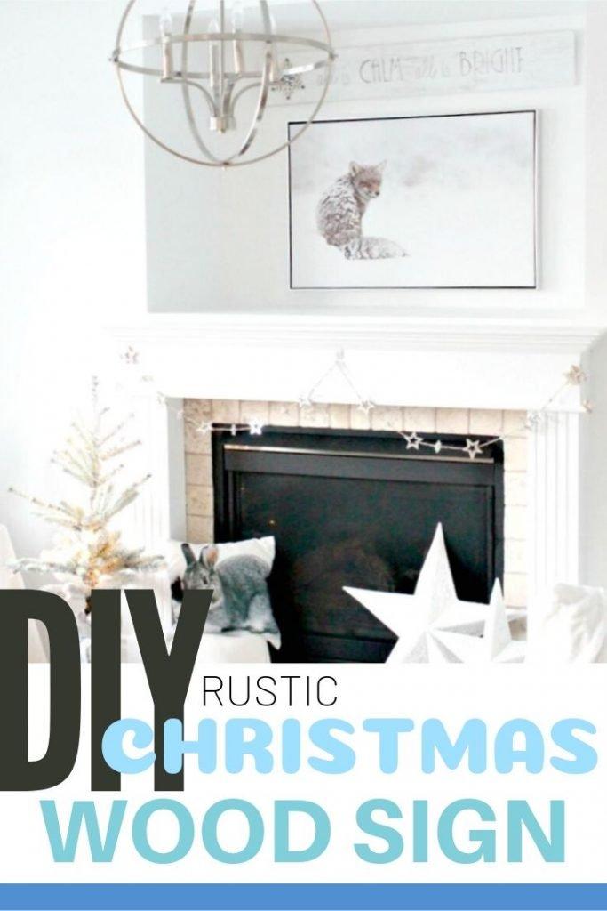 DIY Rustic wood sign for Christmas.