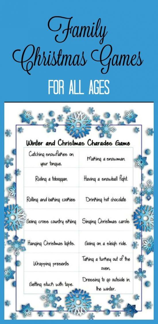 Christmas Games, Family Games, Christmas