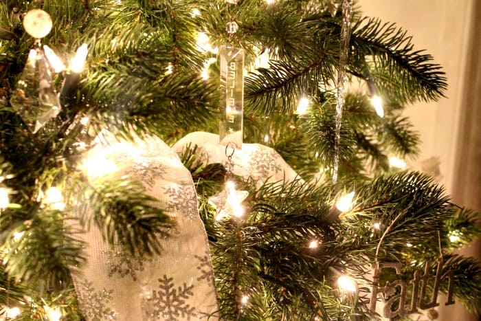 Christmas tree decorating ideas. A white Christmas tree becomes extra bright in the evening with Christmas lights. ,  tree decorating ideas,Christmas tree decorations items