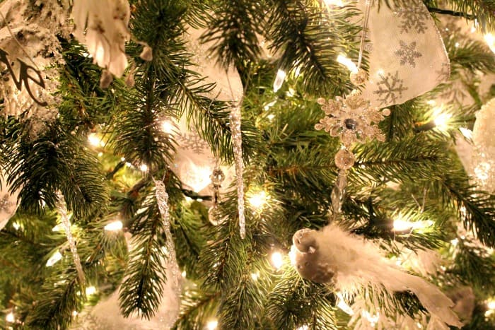 Christmas tree decorations ideas Adding crystal icicles to a tree adds bling for very little cost. ,  tree decorating ideas,Christmas tree decorations items
