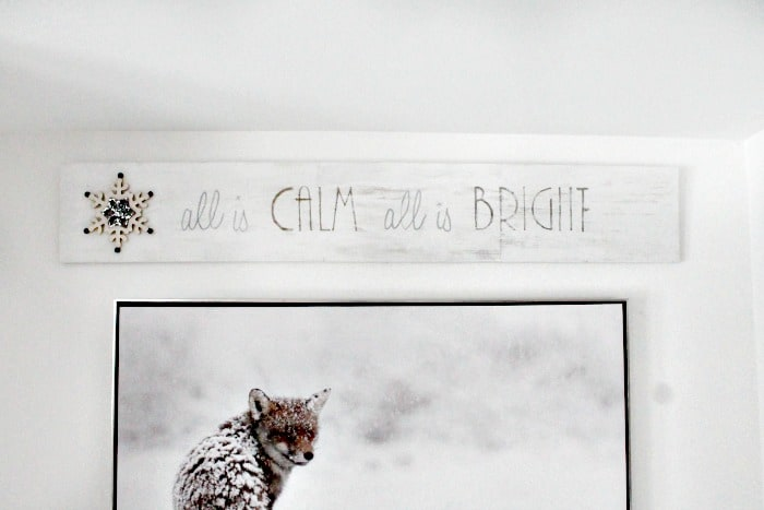 Scrap wood Farmhouse Christmas sign that says All is Calm all is bright. DIY Christmas Art, Christmas crafts for adults, Christmas crafts for adults ideas, DIY Christmas Wall art, DIY Christmas Sign, Christmas Crafts, Christmas Craft ideas, Christmas decor ideas, Farmhouse Christmas