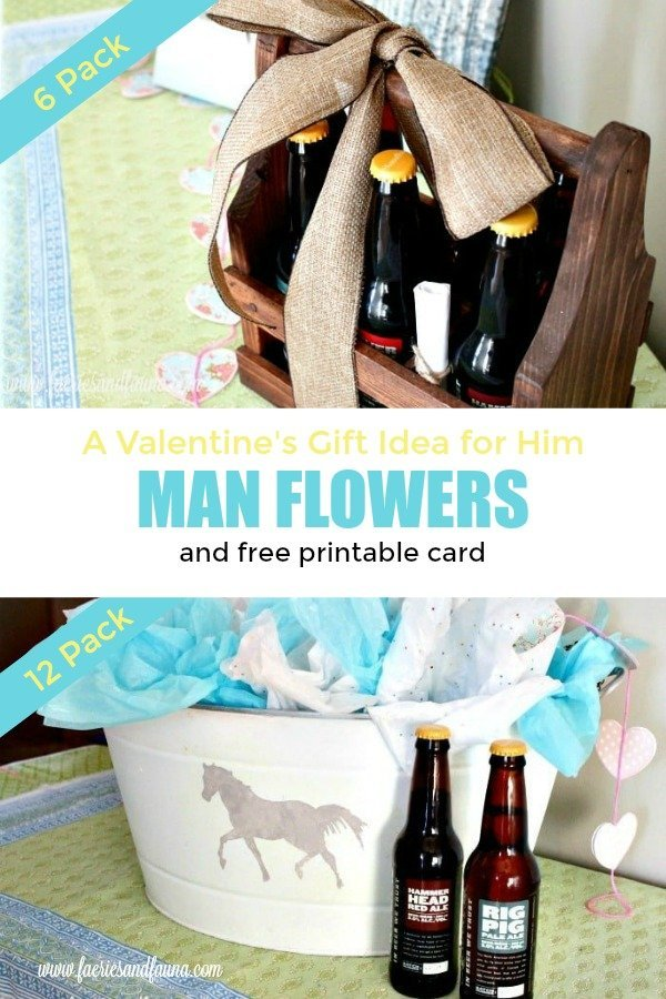 A creative Valentines day gift for a boyfriend or husband.