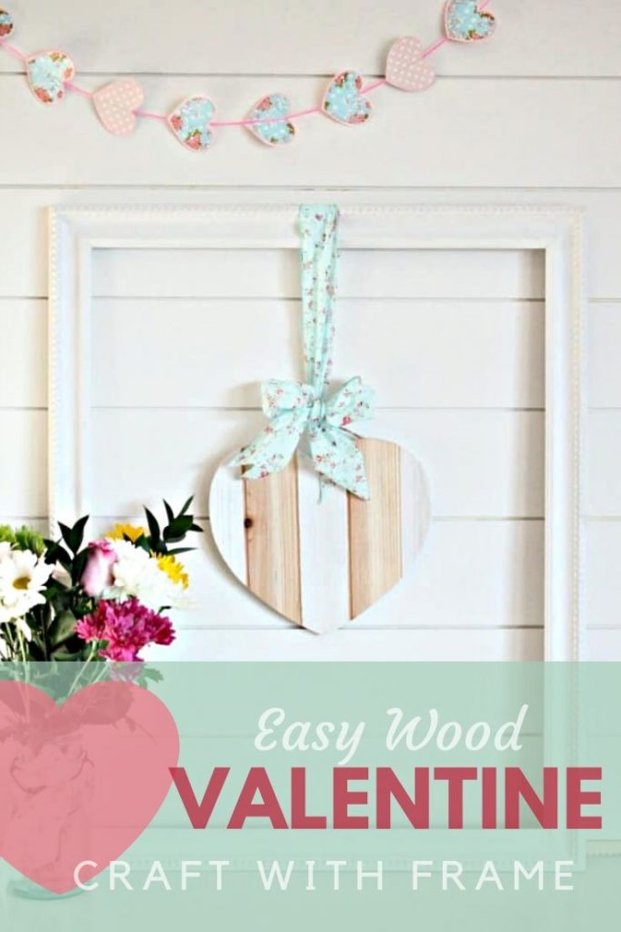 Valentine craft made using wood. An easy to make valentine's decoration.