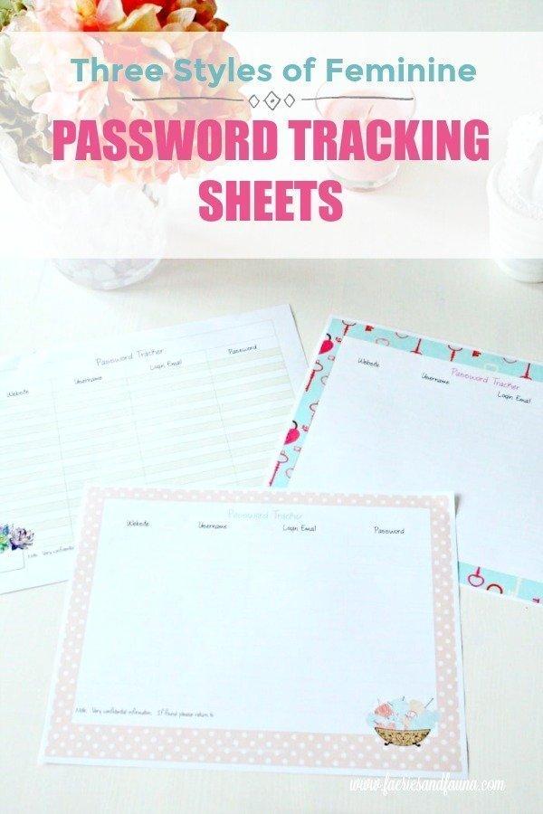 Free printable password sheet.