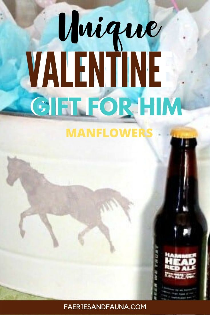 Craft beer and free valentine printable become a unique Valentines gift for him.