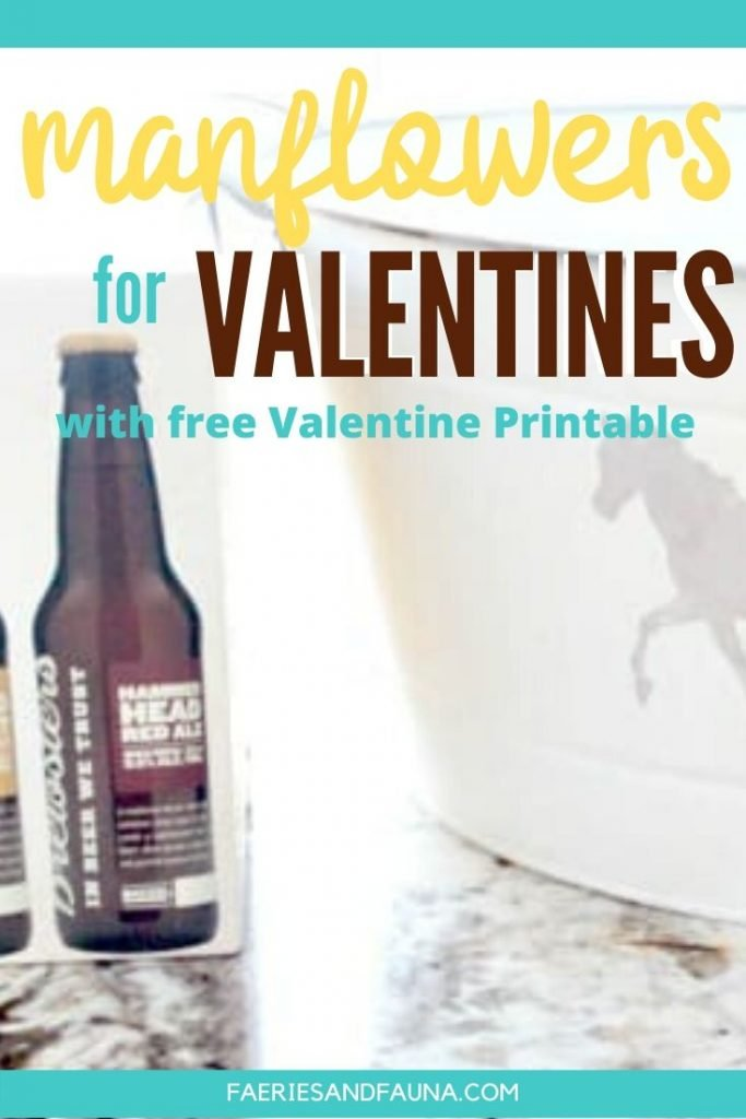 Valentines gift idea for boyfriends. A funny and unique Valentines gift for him with Free Valentines Printable