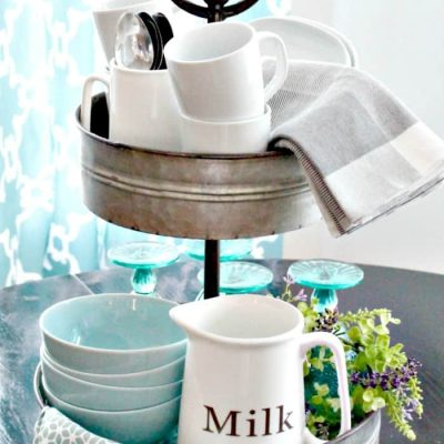 Tiered Tray Ideas for Spring Decor