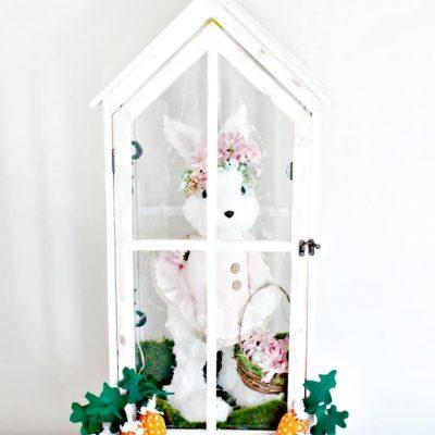 DIY Bunny Lantern for Easter Decor
