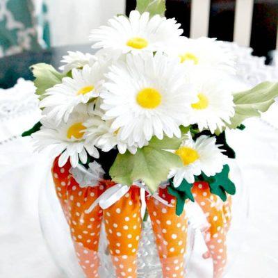 DIY Easter Decorating Ideas using Miniature Carrots