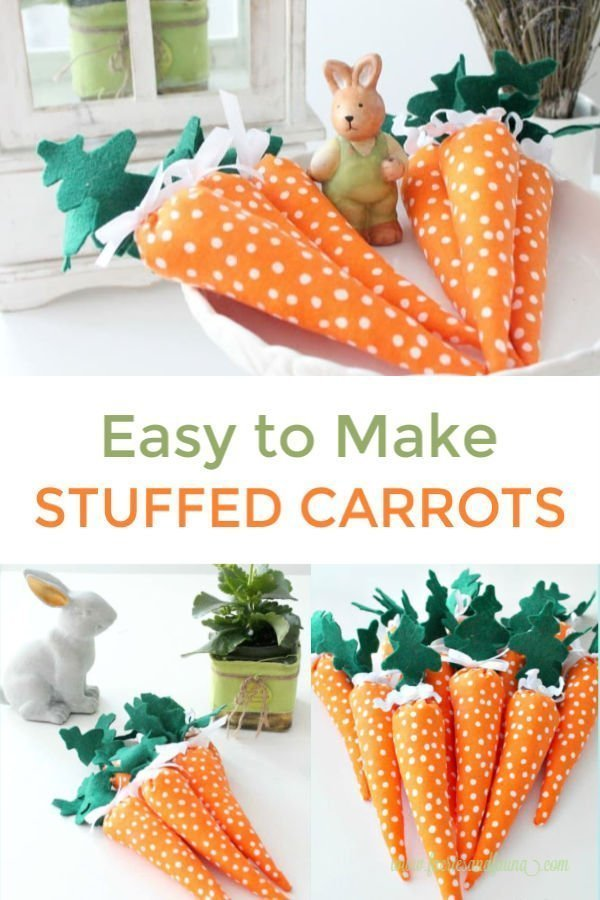 Fabric carrots for Easter, an easy Easter Craft