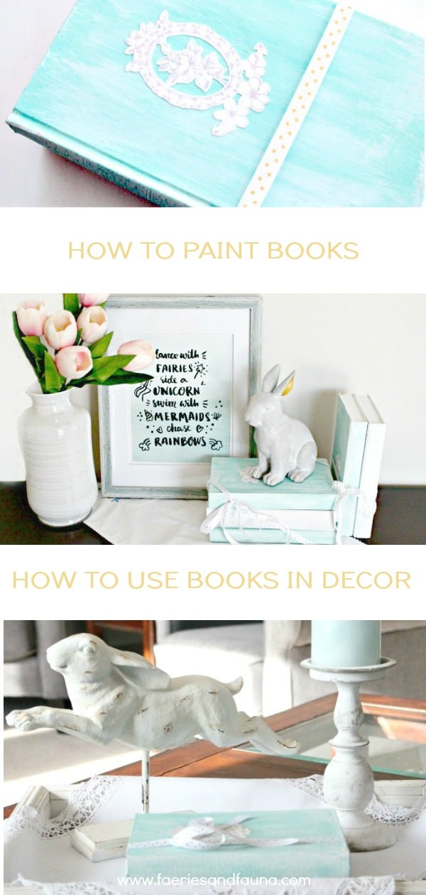 A turquoise vignette using books in various ways.books for decor, using books to decorate, home decor with books, how to decorate with books,