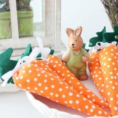 DIY Miniature Carrots for Spring Decor