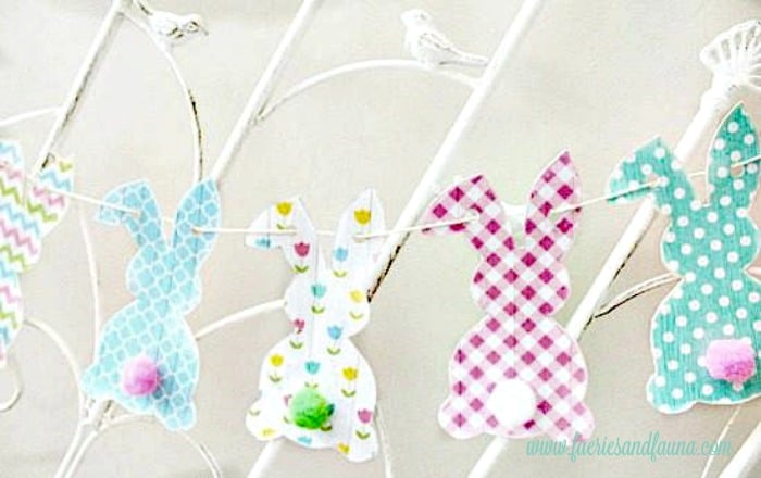 Easy craft for children, an adorable bunny banner.