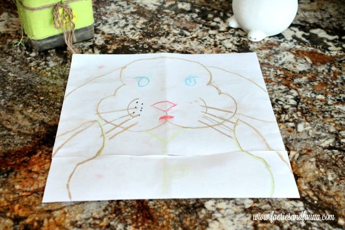 A chalkboard Easter bunny craft idea for Easter decor.