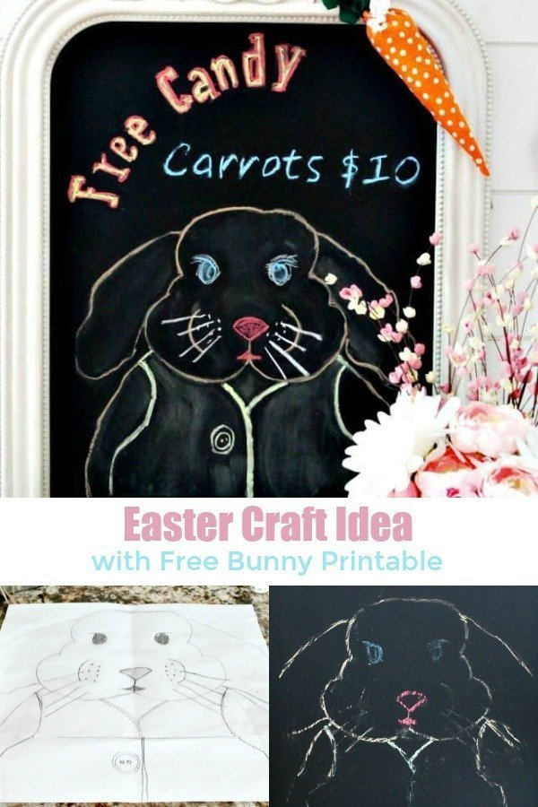 Easter Bunny Craft Idea for Children or adults.