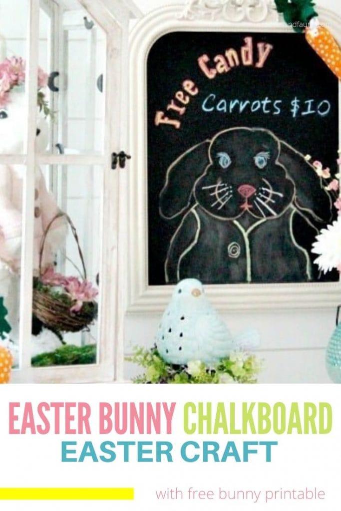 A DIY Easter bunny craft.