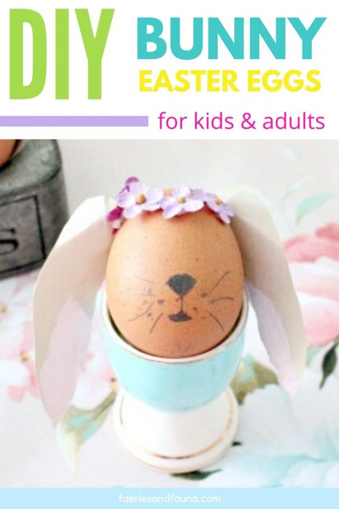 How to blow out eggs and use them to make Easter Bunny Eggs.