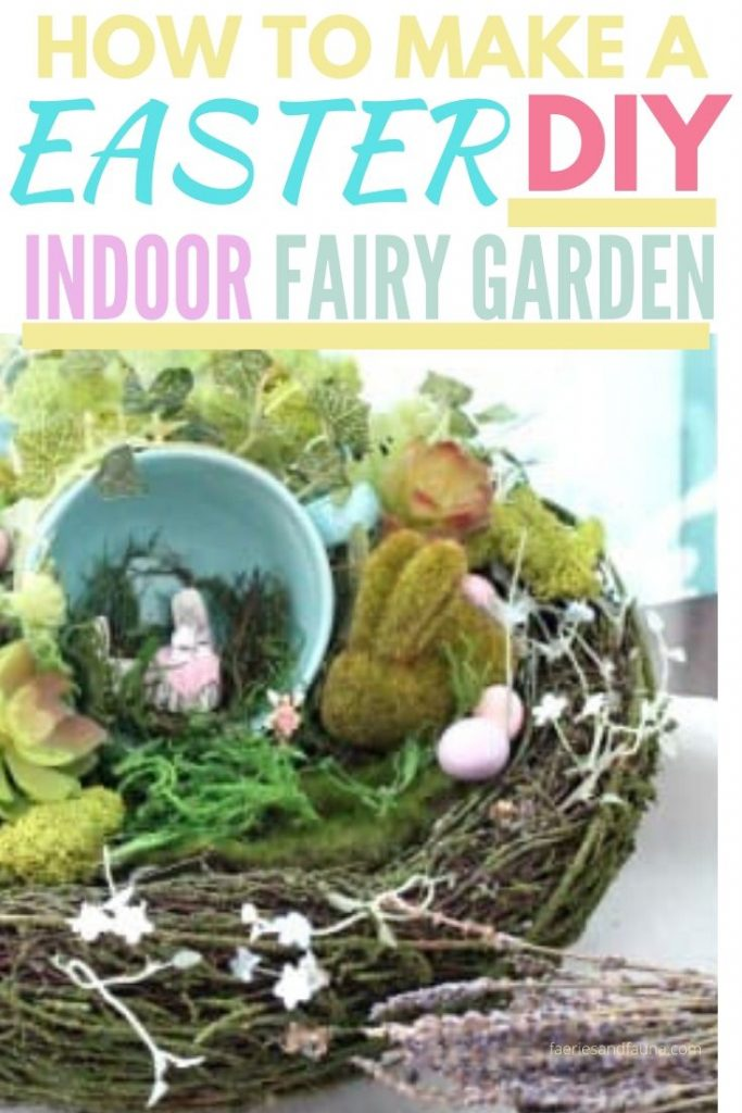 A quick and simple Easter craft DIY fairy garden.