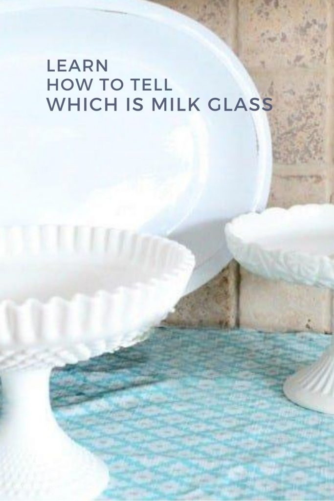 Some ways to recognize real milk glass.