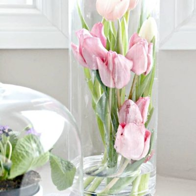 How to Arrange Tulips Inside a Tall Vase
