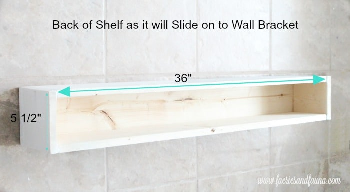 DIY floating shelf, that shows how to build a shelf with measurements.