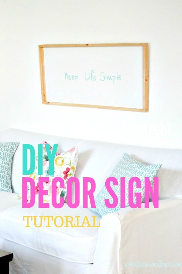 How to make a DIY sign for Summer decor tutorial collage. Keep life simple sign,  DIY signs,  DIY wood sign making,  DIY painted signs, DIY home decor signs, DIY summer decor