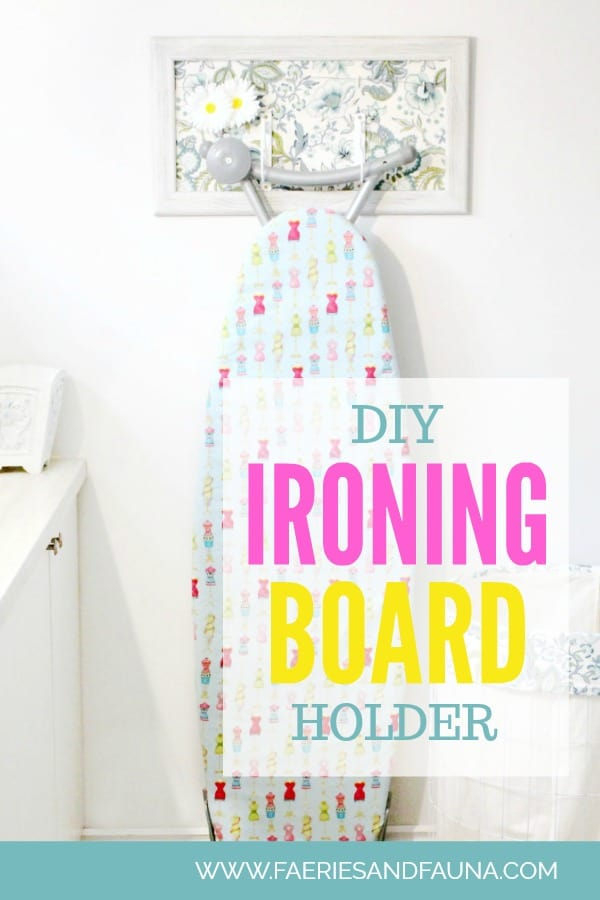 DIY Ironing Board Cover, with directions on how to hangan ironing board cover.