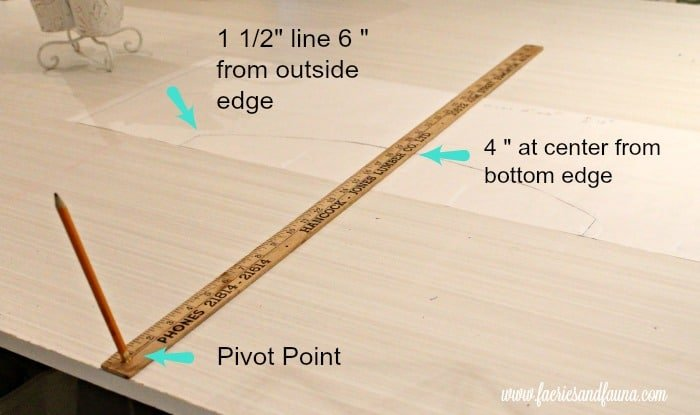 Pivot tutorial for drawing a DIY window valance tutorial.
