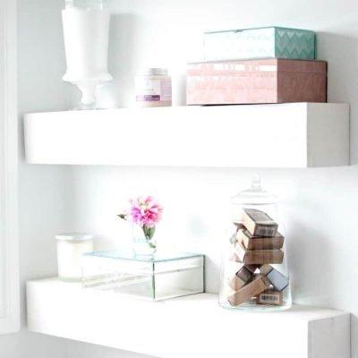 DIY Floating Shelves for Bathroom Organization