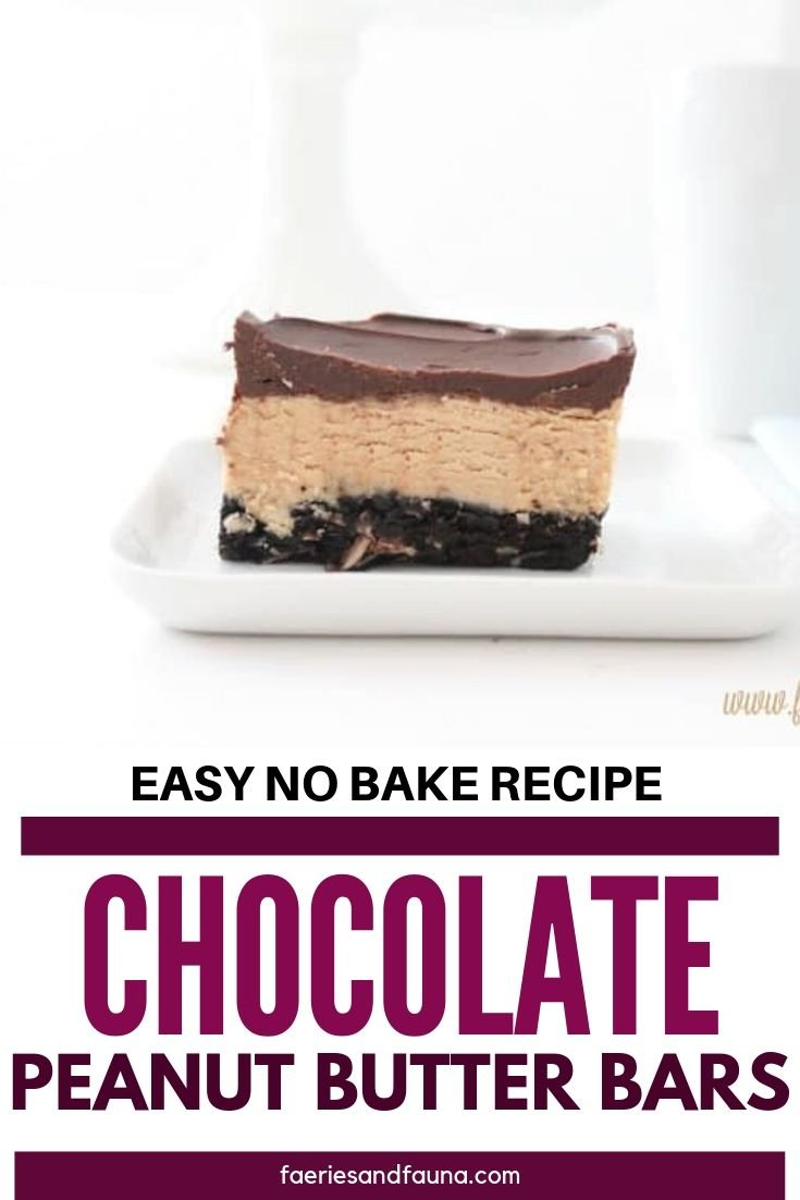 Easy to make chocolate peanut butter bars, recipe
