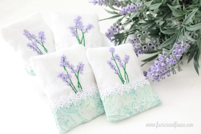 Four hand made embroidery crafts, with lavender. sachet, how to make lavender bags, how to make sachets, lavender bags pattern, hand embroidery, hand embroidery patterns, hand embroidery stitches, hand embroidery designs.