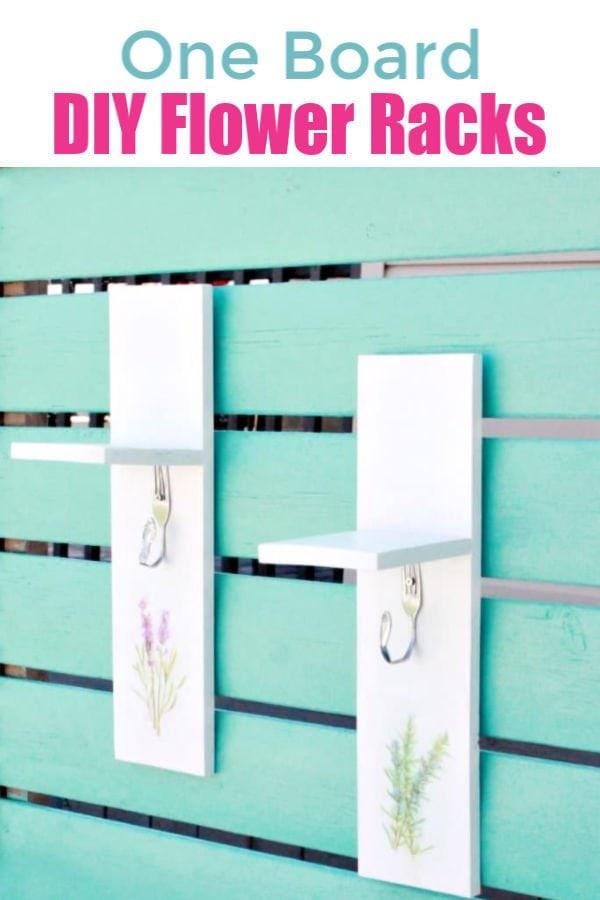 One board outdoor drying racks or flower shelves.