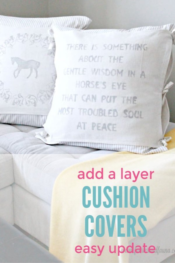 Adding a layer to cushion covers for updating.