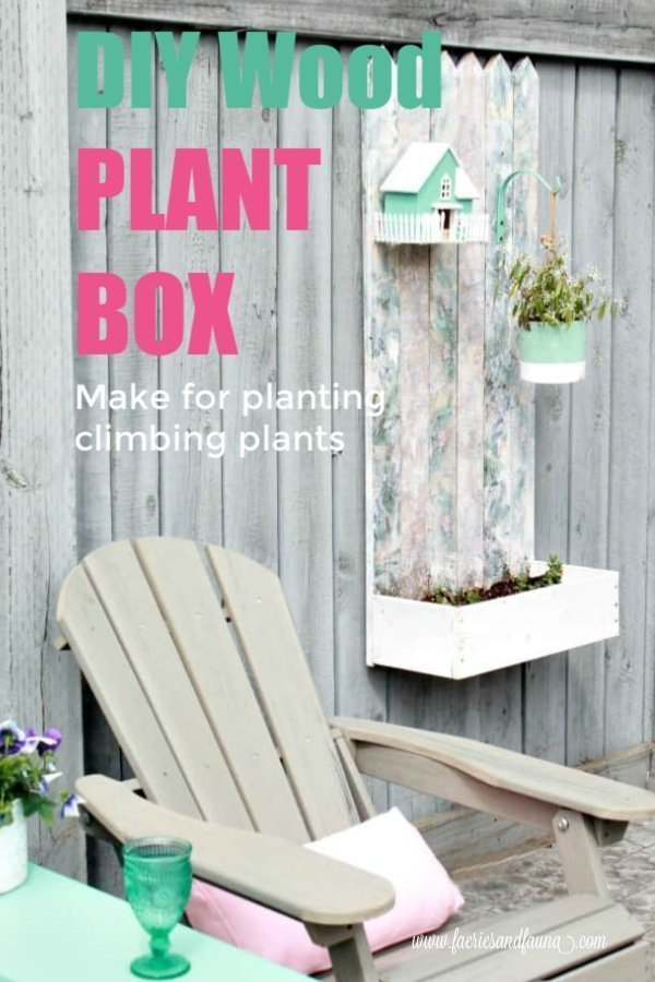 A DIY wood planter for outdoors. An easy wood project using mod podge.