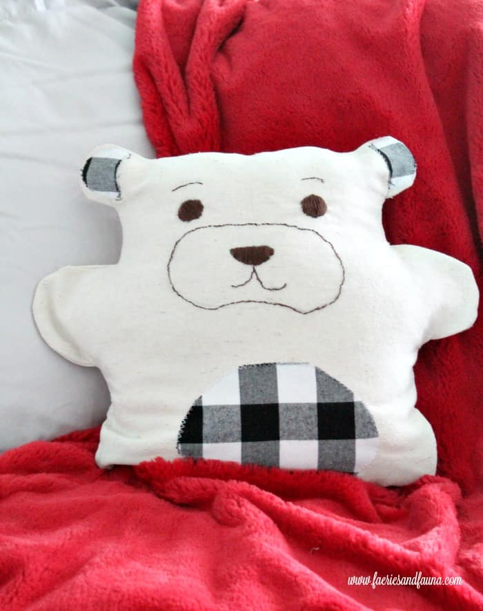 How to use drop cloth to make a child's teddy bear.