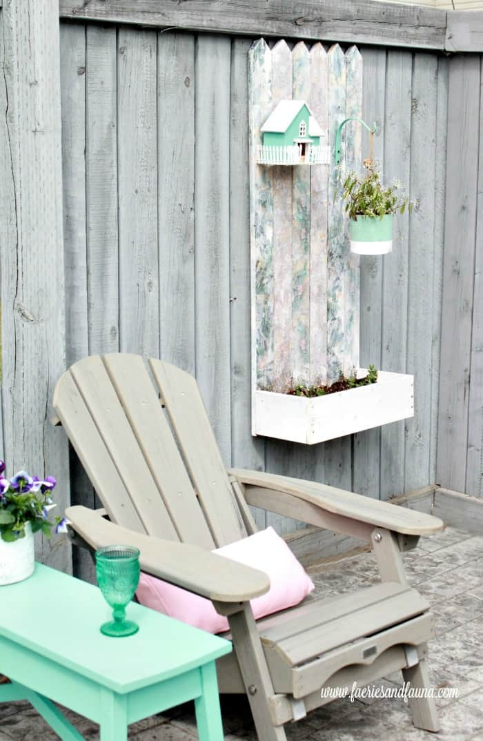 Showing the final product of a tutorial on how to make a pretty flower box using scrap materials and mod podge