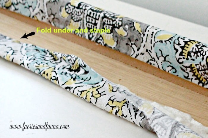 How to recovered an old RV valance with new fabric as part of an RV interior, RV renovation.