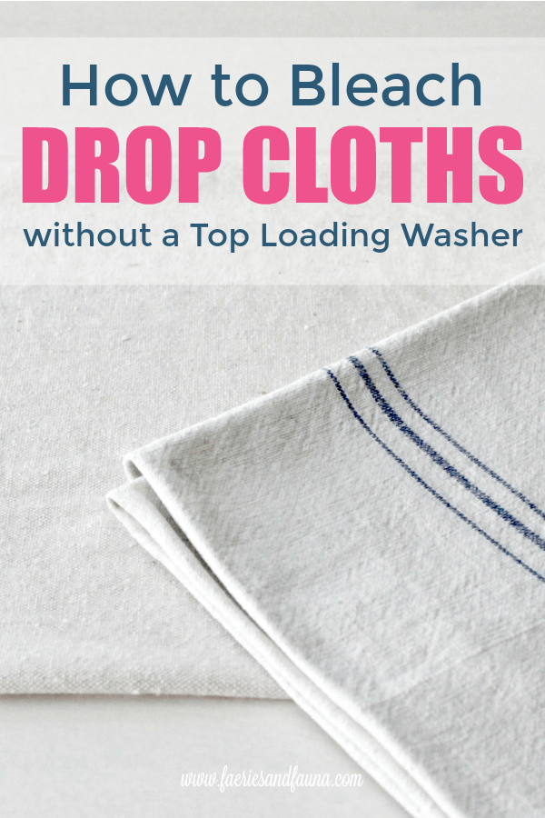 Bleaching drop clothes a before an after photo
